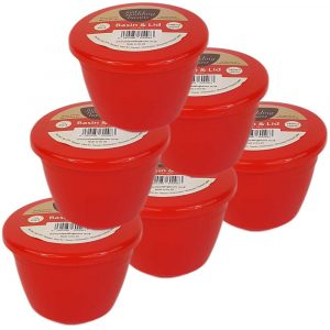 Red Pudding Basins 1/4 Pint
