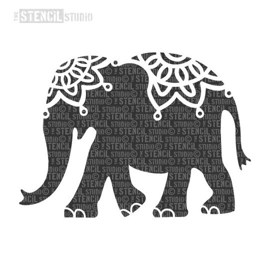 Indian Elephant A4 Quality Uk Stencils Just Pudding