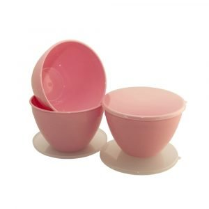 3 Pint Pink Pudding Basins