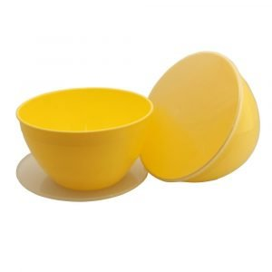 Large Yellow Pudding Basin and Lid