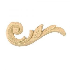 Right Decorative Corner Wooden Moulding 8cm x 4cm